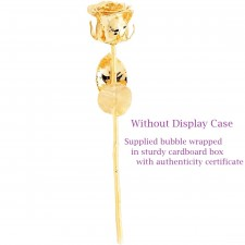 24k Gold-Dipped Rose Without Display Case