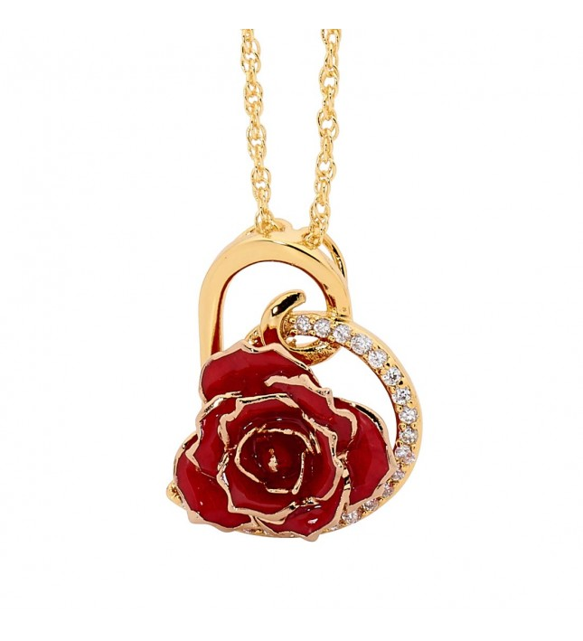 red flower pendant