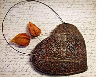 Bronze heart for 19th anniversary