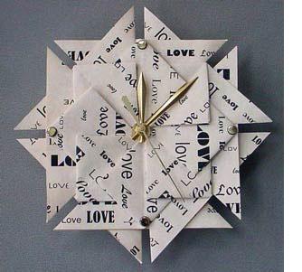 1st anniversary paper & clock theme