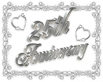 Happy twenty fifth wedding anniversary