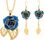 Eternity Rose Jewelry Set