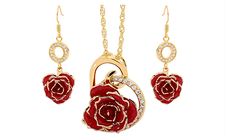 Birthday romatic gift - gold plated earrings