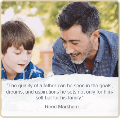 Father's day quote by - Reed Markahm