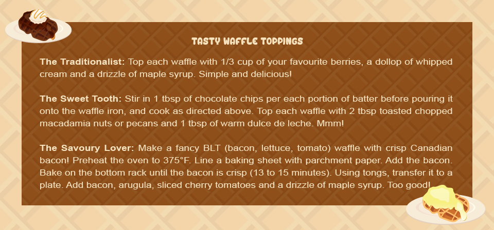 Mothers day food traditions - tasty waffles