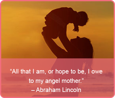 mothers day quote - Abraham Lincoln
