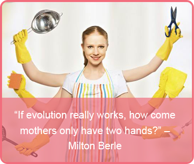 mothers day quote - Milton Berle