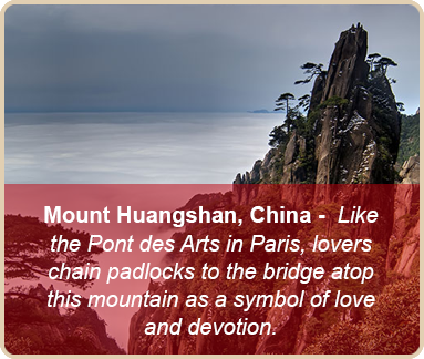 valentine romantic places mount huangshan china