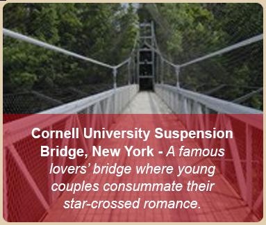 valentine romantic places suspension bridge new york