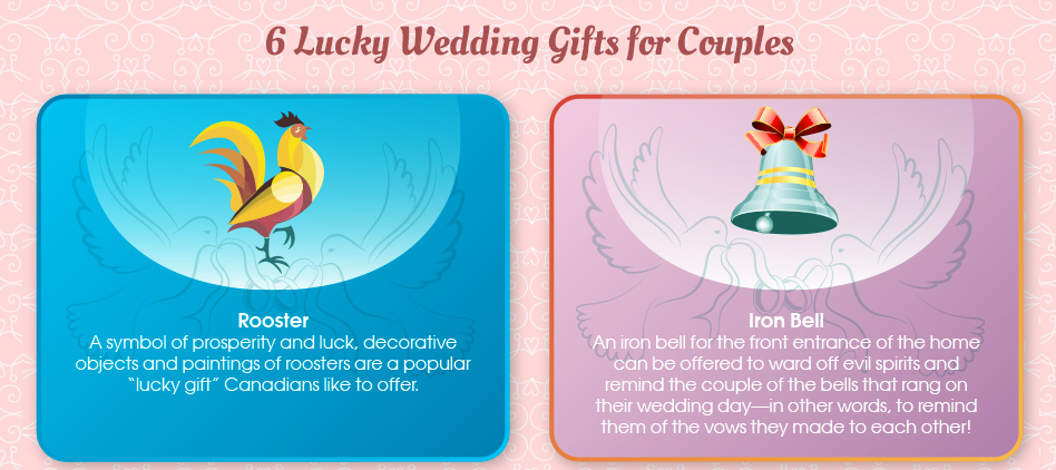 6 lucky wedding gifts for couples