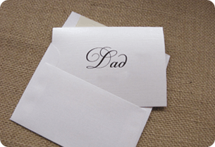 Wedding gift idea for father - thoughtful card