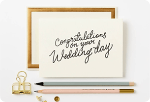 Wedding gift idea for mother - thoughtful card