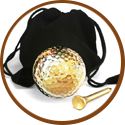 Wedding gift for man - gold plated golf ball