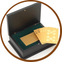 Wedding gift for man - gold plated poker cards